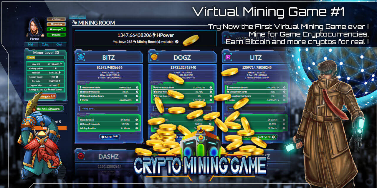 Mine bitcoin and altcoin for play, earn for real